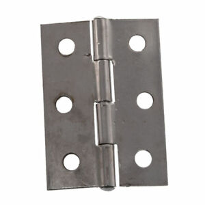3x Stainless Steel Springless 44mm Hinges Cabinet Door Window Safety Close Shut