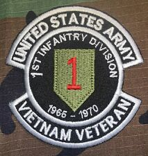 US ARMY 1ST INFANTRY DIVISION 1966-1970 VIETNAM VETERAN PATCH SEW NEW B464