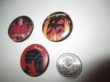 Vintage Button Pinback Badge Rare 3 X Santana Classic Rock