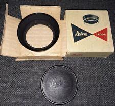 Leica IROOA 12571J Lens Hood W/Cap & Box 1:2/50, 1:/35, 1:2.8/35, 1:3.5/35