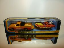 CORGI TOYS GIFT SET 28 MAZDA B1600 PICKUP + BOAT TRAILER - RED 1:43? - VGIB