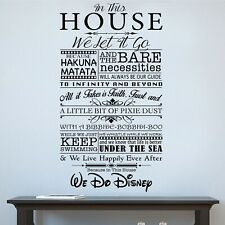 Home Decor Vinyl Graphic Kit - Walt Disney Inspired Mural - Easy Apply
