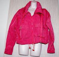 Adidas By Stella McCartney Women Rain Windbreaker Orange Coral Jacket Size:S