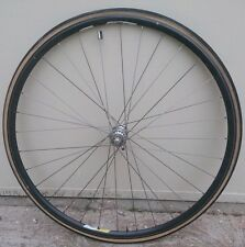 Cerchio + mozzo anteriore x bicicletta da corsa Campagnolo Omega 6082 alloy T6