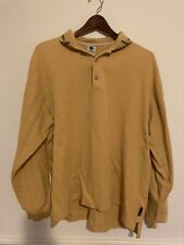 Vintage 90s COLUMBIA Mens X Large Rugby Shirt Long Sleeve Polo Yellow
