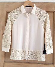 Zara Polyester Floral Singlepack Tops & Shirts for Women