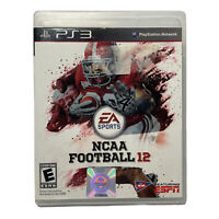 NCAA Football 12 (Sony PlayStation 3 PS3, 2011) Complete w/ Manual TESTED Works