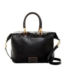 NWT $448 Marc by Marc Jacobs New Too Hot To Handle Top Zip Satchel Bag Black