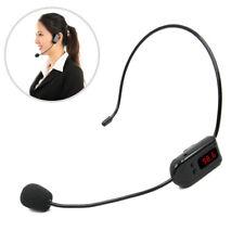 FM Wireless Microphone Megaphone Headset Radio Mic for Tourist Guide Loudspeaker