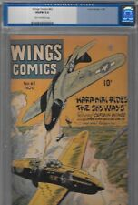 CGC 5.0 Wings #63 Nov.1945 Fiction House Jap World War II Cover