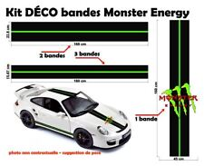 """Monster Energy Racing style Stripe and Logo """"universel*"""" Sticker bandes"""