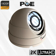 Dome Camera 5MP 1920P Wired PoE IP  Waterproof Outdoor IR Speed Dome LED CCTV