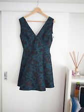 Teal and black 'Mallory' dress from Alice+Olivia US Size 8 BNWT RRP $440 USD