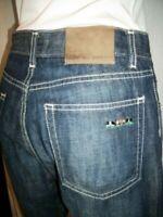 Pantalon jeans droit  MISE AU GREEN 38 40 W30 coton bleu brodé poche arrière