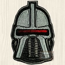 Battlestar Galactica Cylon Helmet Patch Lieutenant Starbuck 1978 Embroidered