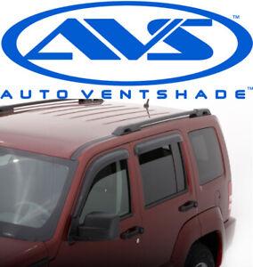 AVS 94964 Tape-On Window Shades Ventvisors 4-Piece Smoke 2008-2012 Jeep Liberty