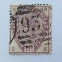 1884 GB Queen Victoria 3x1/2d stamp used