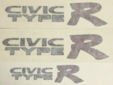 Genuine OEM Honda CIVIC TYPE R side and rear Decal set DARK outline CTR EK9