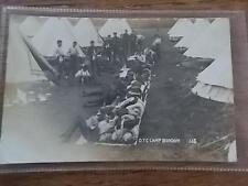 Vtg 1912 British Army OTC Officer Training Corps Military Camp BORDON Hampshire