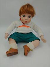 Elke Hutchens Danbury Mint Red Headed Boy Porcelain Sitting Doll 1993