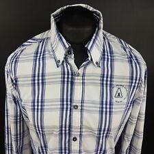 Gaastra Mens Shirt XL Long Sleeve Blue Regular Fit Check Cotton