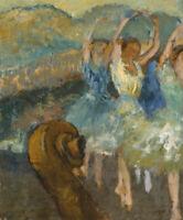 Le Ballet Edgar Degas Wall Art Print CANVAS Dancers Painting Repro Ballerina Art