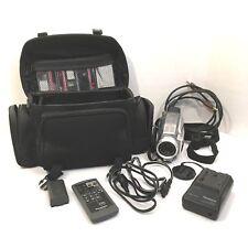 Panasonic Video Palmcorder 700x Zoom Webcam Mini DV Case Cords Tapes PV DV202
