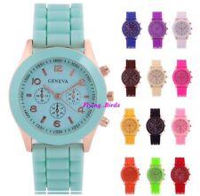 Womans Mens Watches Quartz Jelly Silicone Analog Sports New Ladies Wrist Watch