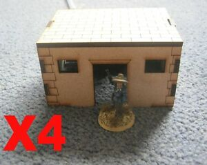 28mm 4 Sheds Outbuildings Laser Cut MDF Building Scenery  Infinity Bolt Action