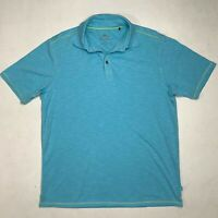 Tommy Bahama Polo Shirt Men's Size M Blue Short Sleeve Casual Collared Tee
