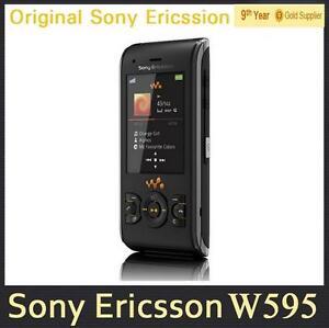 Original 3G Unlocked W595 Sony Ericsson W595 3.15MP Camera Slider Cell Phone