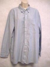 Reg Size 17-17.5 Dickies Long Sleeve Shirt Button Down Light Blue Cotton Blend