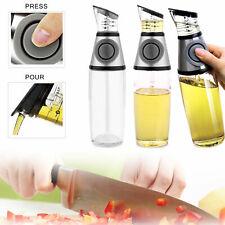 Healthy Cooking 500ml Oil & Vinegar Dispenser Press Measure Kitchen Glass Bottle