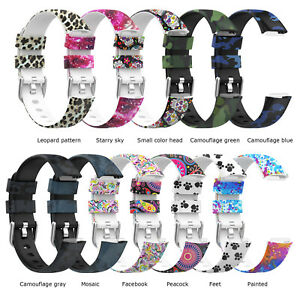 Graphic Print Watch Strap S/ L Watch Band Replacement Parts for Fitbit Luxe