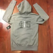 d8ac22e29e64 NEW AIR JORDAN FLIGHT FLEECE HOODIES FULL ZIP AJ10 GREY AJ6390-065 MEN SIZE  L