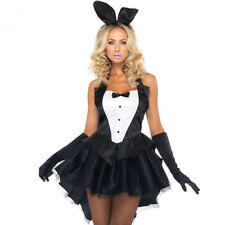 Sexy Women's Bunny Rabbit Costume Cosplay Tuxedo Halloween Outfit Fancy Dress US