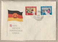 """Ersttagsbrief - """"15 Jahre Deutsche Demokratische Republik DDR"""" Marken/Stempel"""