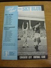 29/08/1967 Coventry City v Nottingham Forest  . Thanks for viewing our item, buy