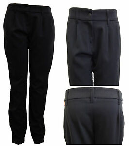NEW sexy MISS SASSY black hipster SKINNY school BELT LOOPS Trousers sizes 6-14