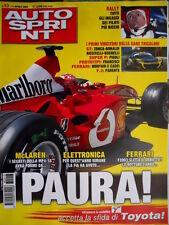 Autosprint 13 2003 Ingaggi per il Rally. McLaren i segreti della MP4-18