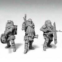 3 Pcs Heavily Armored Soldier Of the Future Resin Scale Model TSUN-19206 Ki C6A1