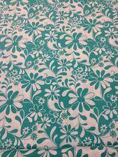 Crazy Daisy 100 % Cotton Quilting Craft Fabric Green White benartex