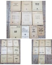 Lot of 26 VTG US Army Field Manuals 1953-1963 combatives machinegun radio etc
