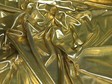 """Liquid Lame Stretch Fabric Gold Metallic 44"""" wide Sold By The Yard"""