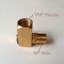 "Pipe Fitting NPT 1/16"" Female To 1/8"" Male 90° Elbow Swivel Rotating 360 PN-Z71"