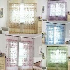 Cn _ Fm- Fleur Broderie Ultra-Fin Rideau de Fenêtre Transparent Diviseur