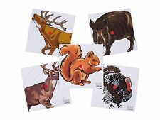 Umarex 100 pk pellet rifle airgun paper targets 5.5 inch deer turkey elk hog