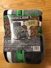 Minecraft Plush Blanket, 62-inch x 90-inch, new in retail packaging