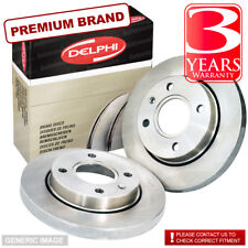 Front Solid Brake Discs VW Polo Classic 1.3 Saloon 85-87 55HP 239mm
