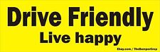 DRIVE FRIENDLY  Bumper / Window sticker / decal  ***FREE SHIPPING***